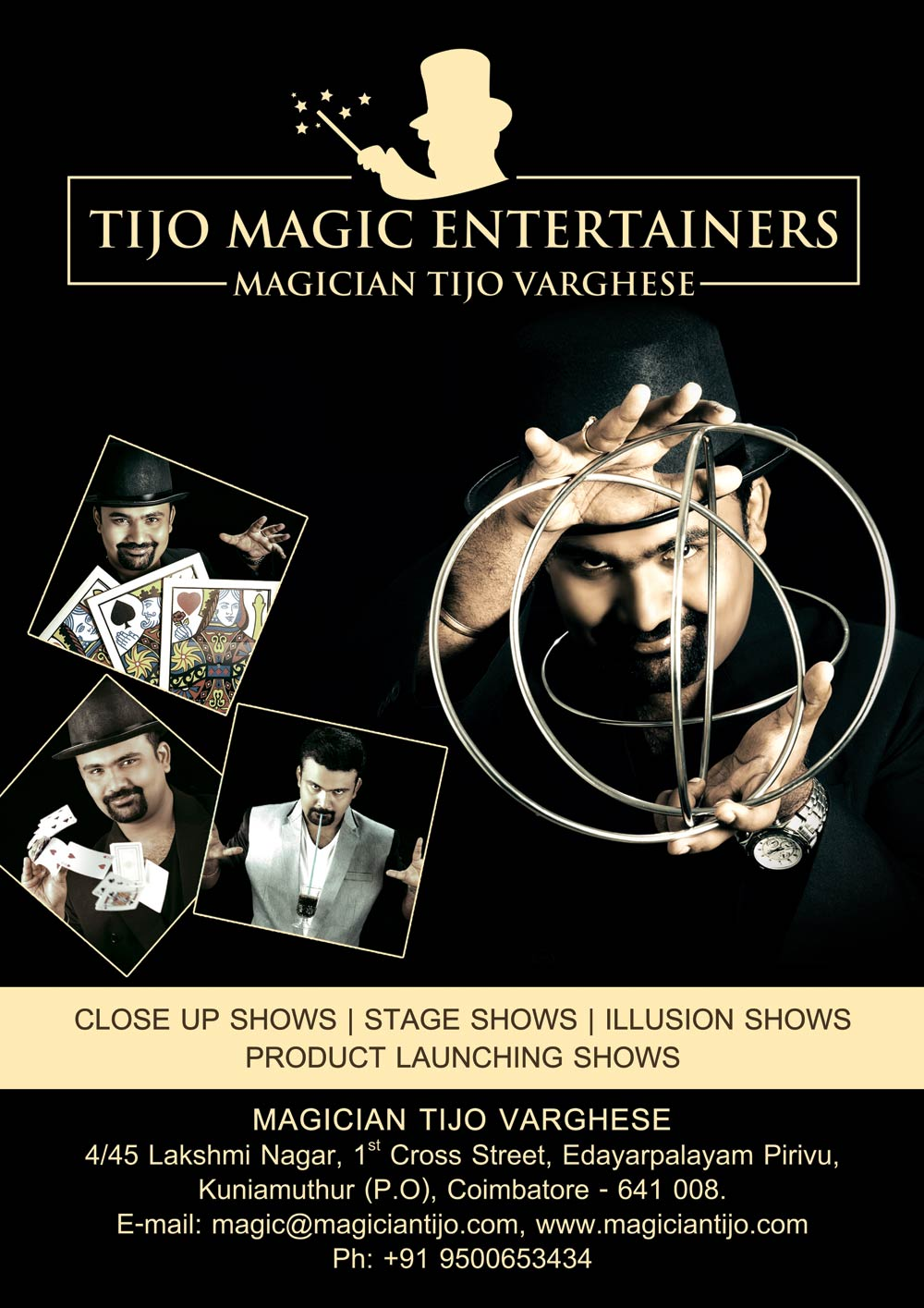 Manthra International Magic Convention 2016 Souvenir Advertisement